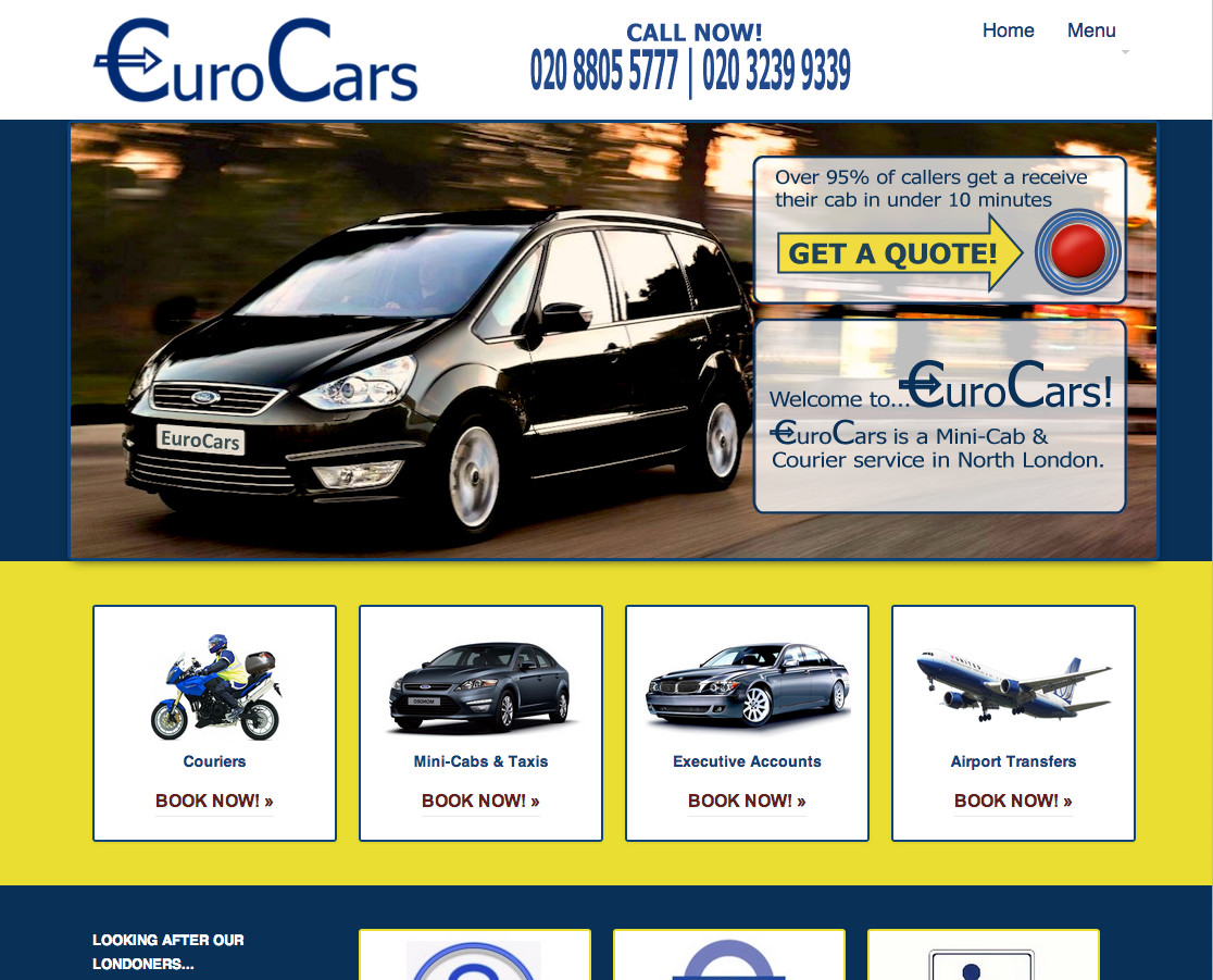 Enfield Taxi Mini Cabs Fixed Price Airport Transfers Eurocars